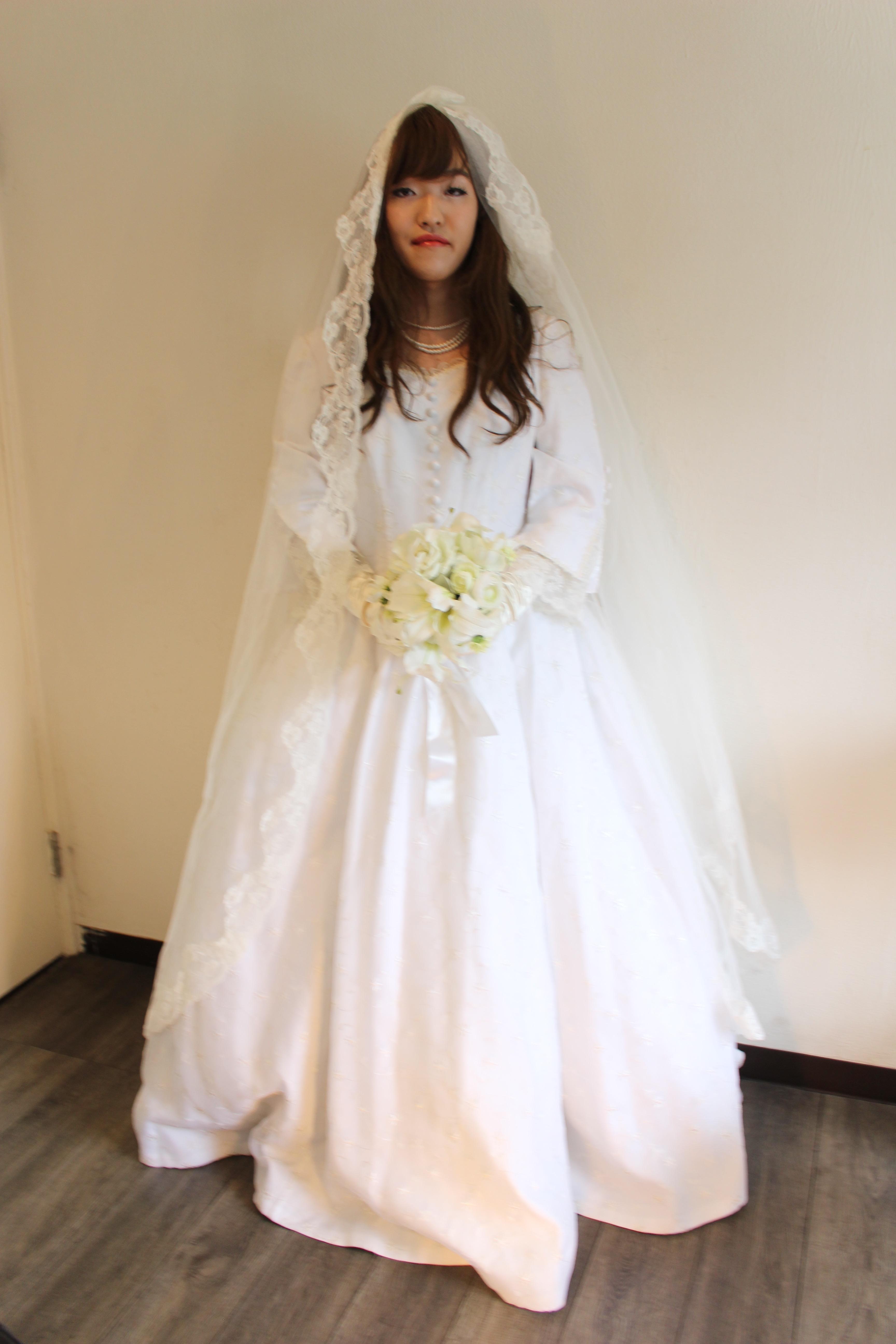 ウェディングドレスを着る貴重な体験ができて、とても幸せでした